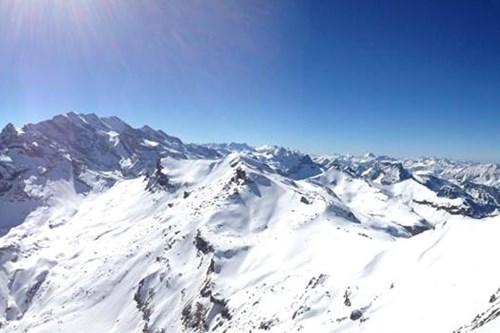 Wengen, skiing panorama