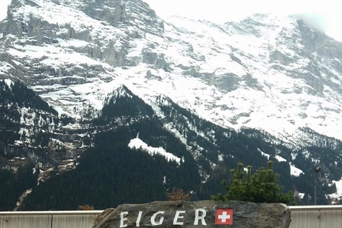 Eiger mountain, skiing in Grindelwald, Switzerland