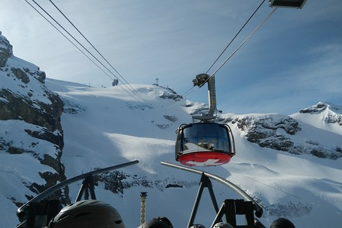 Ski gondola in Engelberg, Switzerland