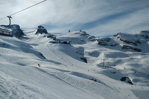Chairlift in Engelberg, skiing in switzerland