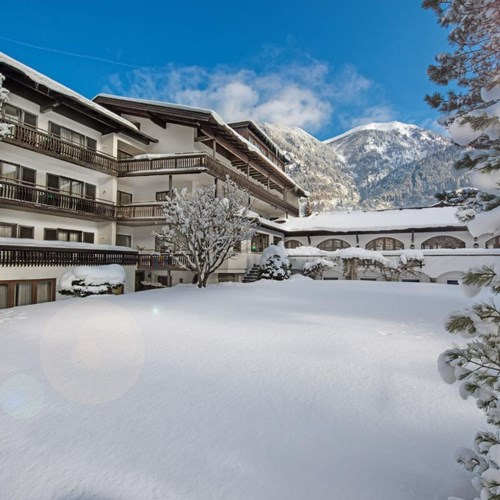 Hotel St Georg snowy exterior, ski accommodation in Bad Hofgastein, Austria