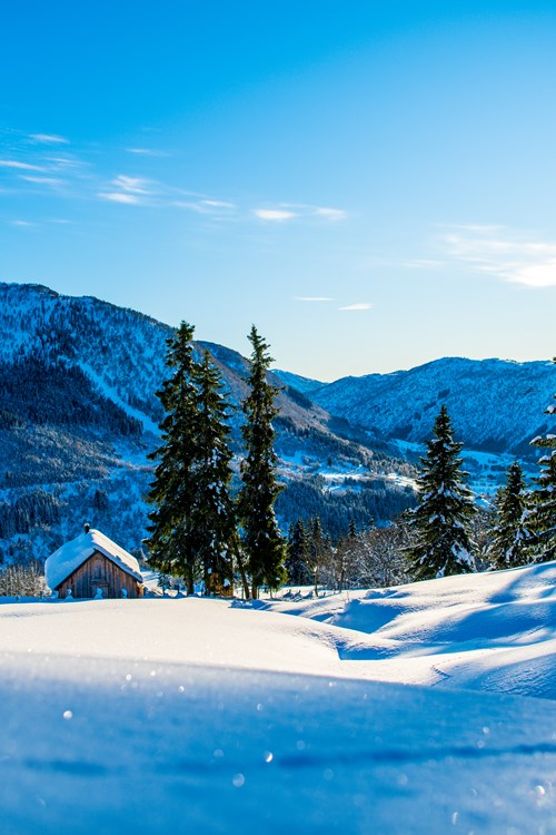 glistening fresh snow and mountain views of Myrkdalen, ski Norway