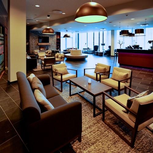 Myrkdalen Hotel, Ski in Norway, lobby seating area