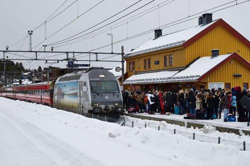 Geilo ski train sustainable access