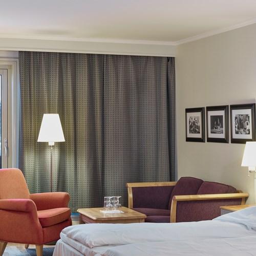 Double room over Basseng in Hotel Bardola, Geilo ski resort, Norway