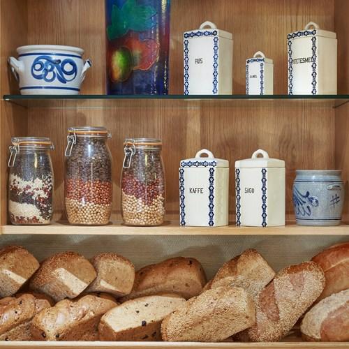 bread buffet selection at Hotel Bardola, Geilo ski resort, Norway