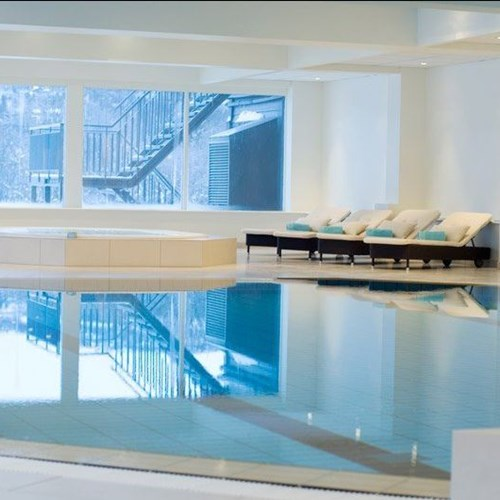 Indoor swimming pool of Highland Lodge in Geilo, Norway skiing