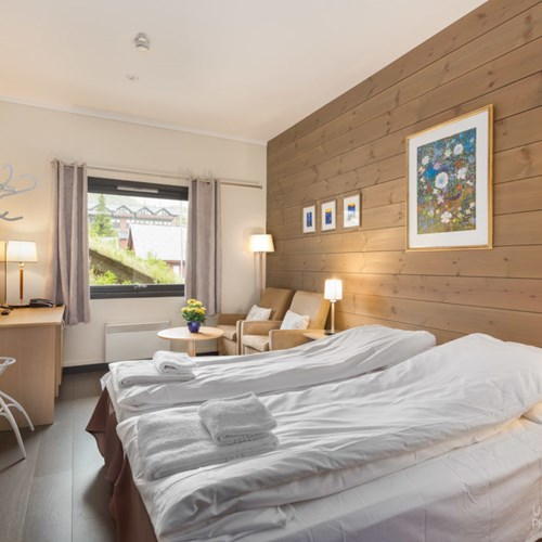 Highland Lodge ski accommodation in Geilo, Ski Norway twin room
