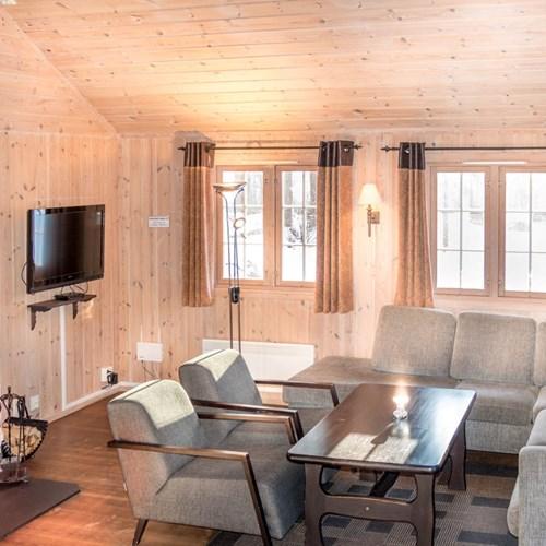 10 bed cabin lounge area-Geilolia cabins-Geilo ski resort, Norway