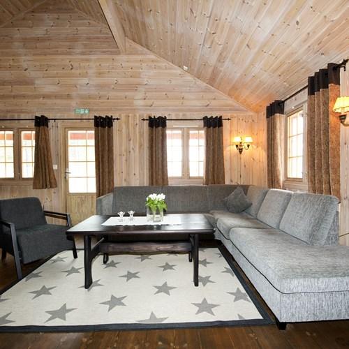 10 bed cabin sofa area, Geilolia cabins-Geilo ski resort, Norway