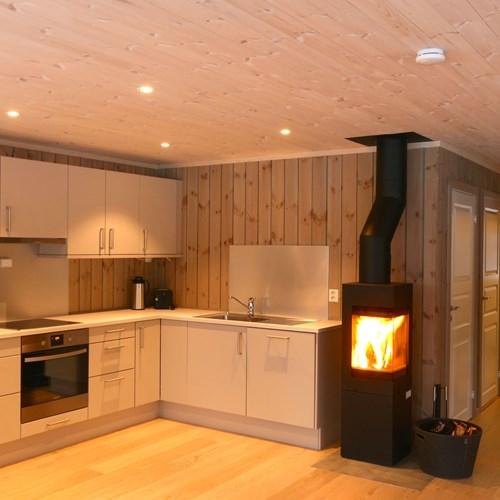 wood burning in Geilolia cabins-Geilo ski resort, Norway skiing