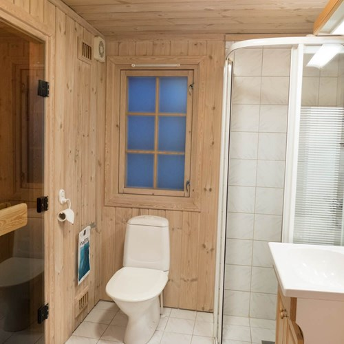 cabin bathroom and sauna, Geilolia cabins-Geilo ski resort, Norway skiing