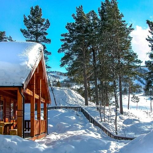 veranda in the snow, Geilolia cabins-Geilo ski resort, Norway