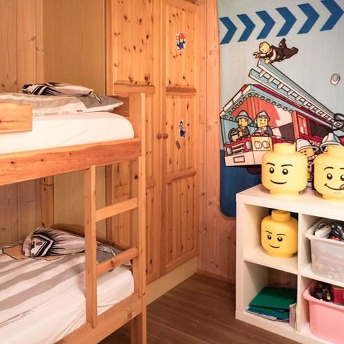 lego themed bunk room in Geilolia cabins-Geilo ski resort, Norway