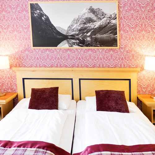 Double room at Fretheim Hotel-Flam-Ski Norway