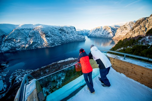 Stegastein viewpoint-Ski and fjord experience-Myrkdalen and Flam-Norway
