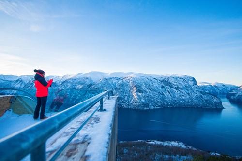 Stegastein frozen viewoint-Flam-Norway
