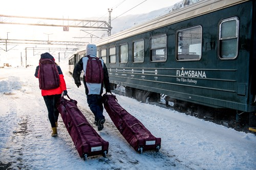 Flam snow train and baggage-Flam-Norway