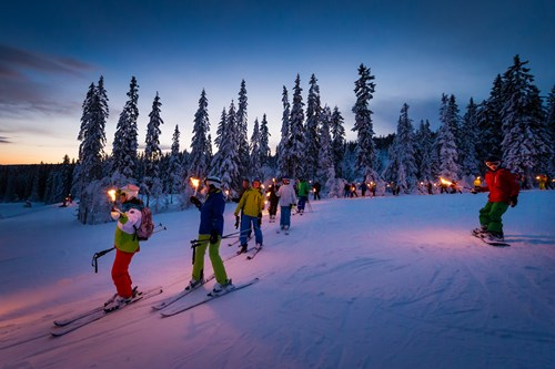 Trysil-Norway skiing holidays-headlamp night skiing
