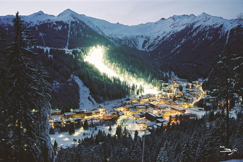 Madonna di Campiglio ski resort-Italy-village at night