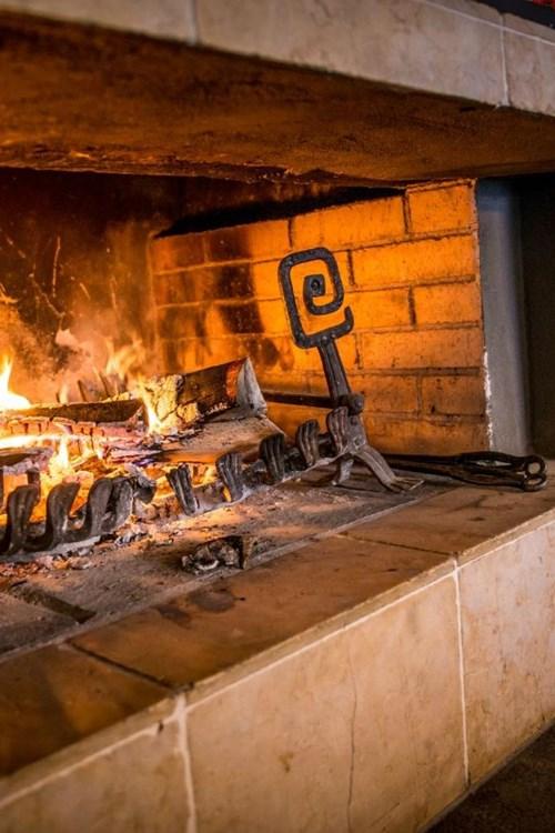 Q! Hotel Maria Theresia-Kitzbuhel-Austria-roaring fire.JPG