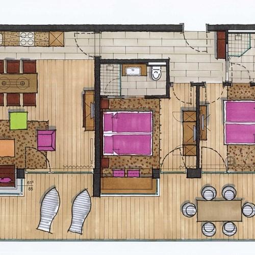 Hotel-Lederer's-Living-Kaprun-design-Hotel-apartment-floorplan