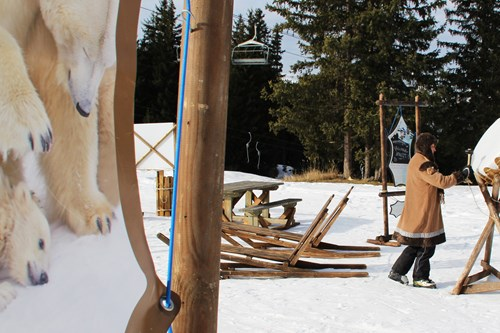 Animal trail in Meribel, perfect for skiing with children