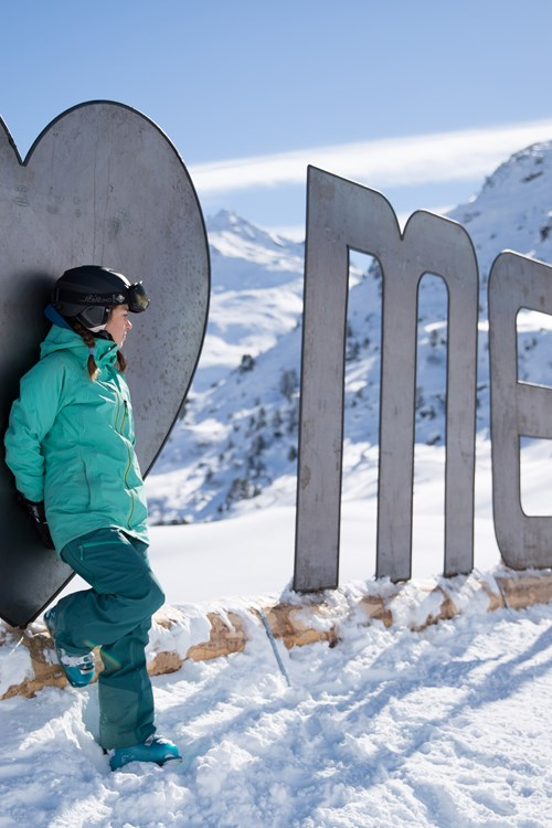 Meribel ski weekends Three Valleys Meribel sign