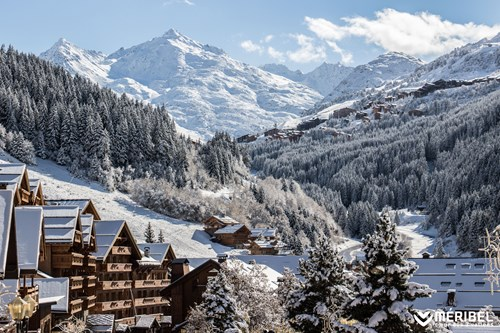 meribel view of valley in snow