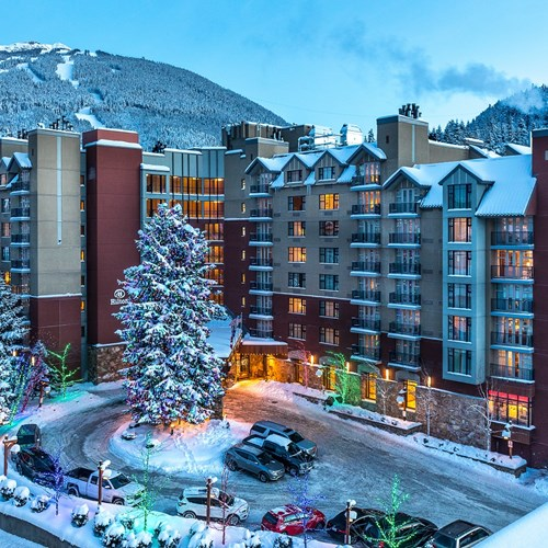 Hilton-Whistler-Resort-and-Spa-snowy exterior