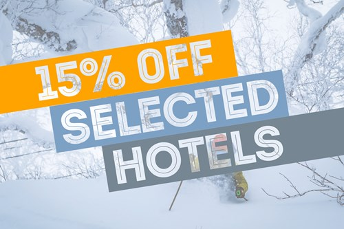 Black Friday 15% off selected hotels with flexiski