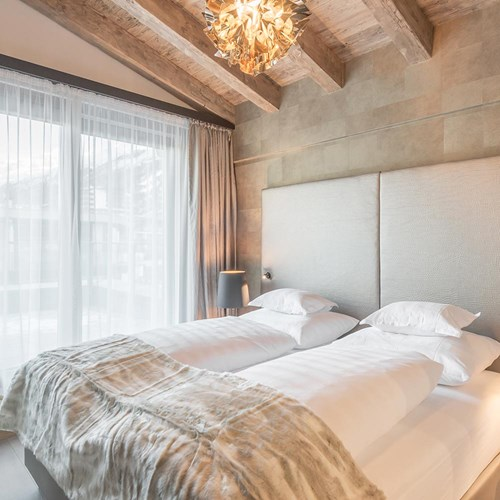 Austrian twin beds at the Hotel Gurglhof  in Obergurgl