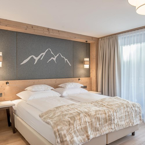 double room at the Gurglhof hotel in Obergurgl, Austria