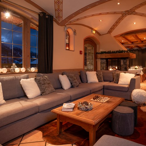 Living rooms of Chalet Ophelia, ski chalet in Meribel