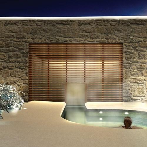 Faloria Mountain Spa Resort, Cortina ski hotel, outdoor vitality pool