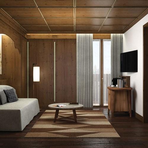 Faloria Mountain Spa Resort, Cortina ski hotel, suite living area