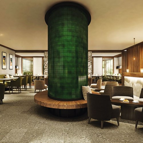 bar area at Faloria Mountain Spa Resort, Cortina ski hotel