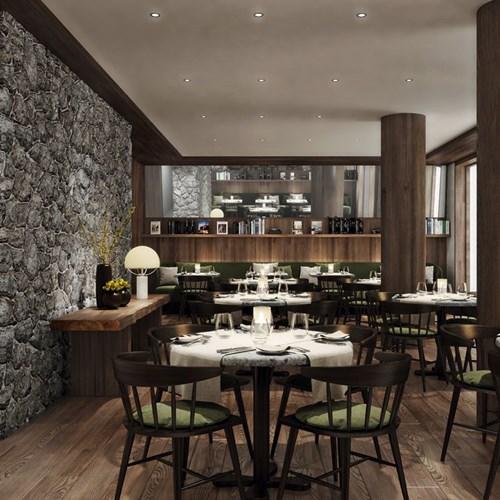Faloria Mountain Spa Resort, Cortina ski hotel, dining area