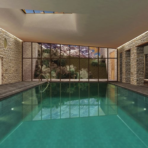 Faloria Mountain Spa Resort, Cortina ski hotel, indoor swimmingpool