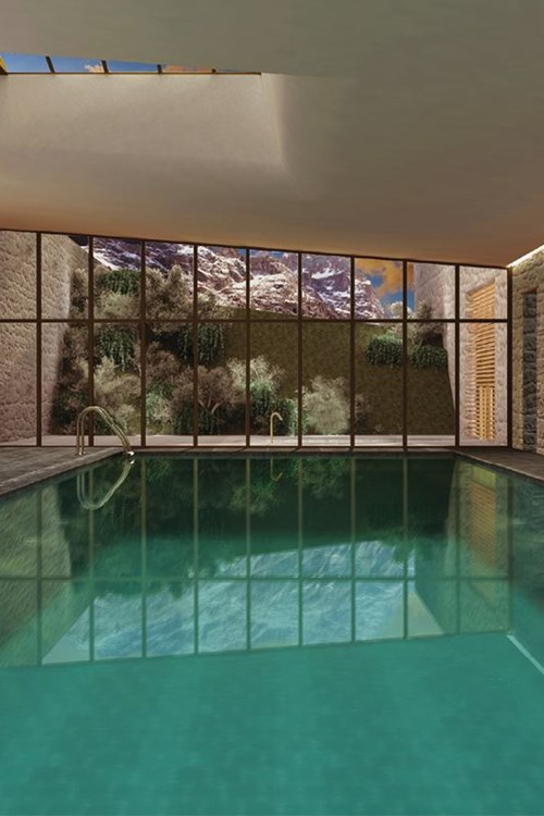 Faloria Mountain Spa Resort, Cortina ski hotel, indoor swimmingpool