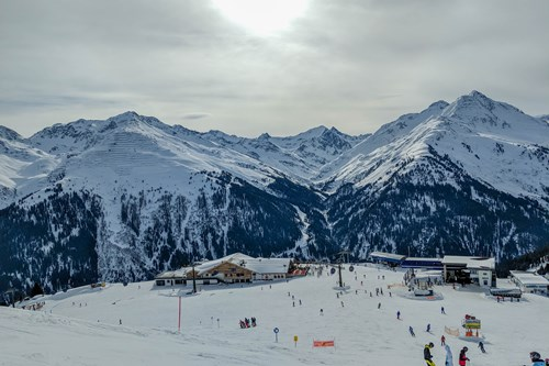 top of the galzig, one of the best runs in St Anton