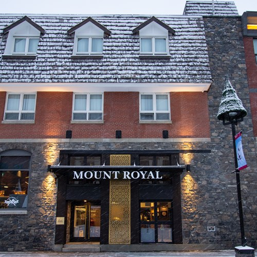 Mount Royal Hotel in Banff front door