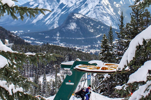 Chairlift on Mount Norquay in Banff, Canada