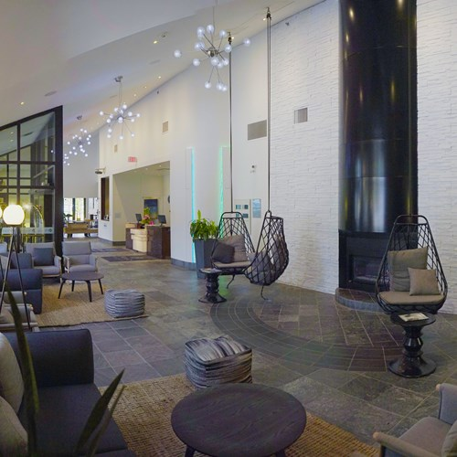 reception lobby area Hotel Aava Whistler