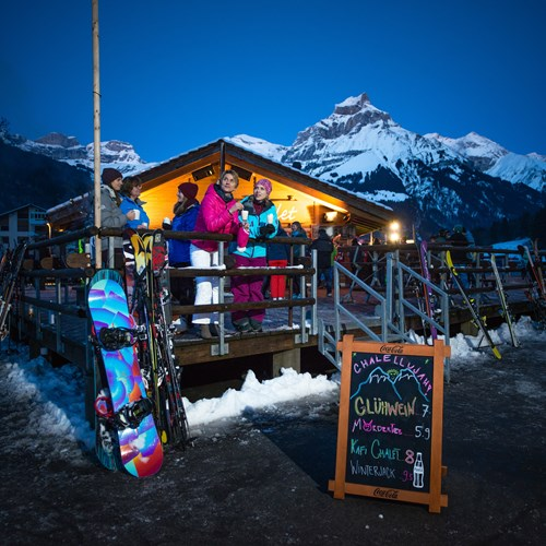 apres ski in engelberg, the chalet