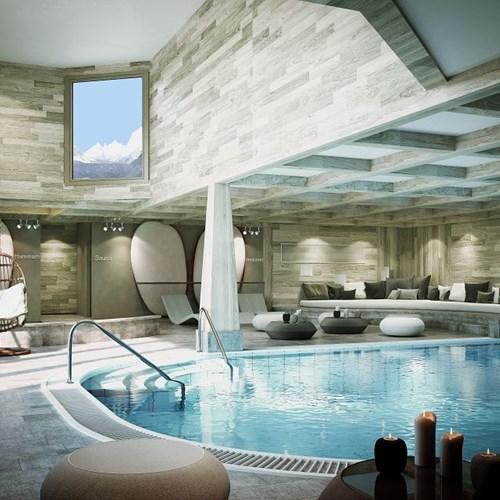 l'hévana apartments in Meribel, pool