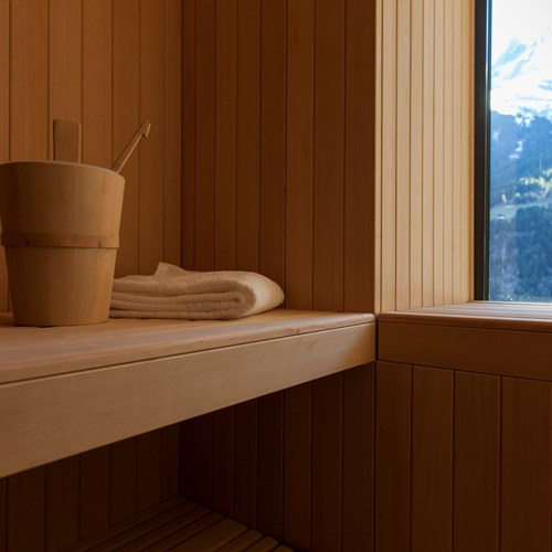 sauna with a view at Hotel National in Champery