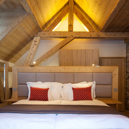 Superior room at Hotel National in Champery