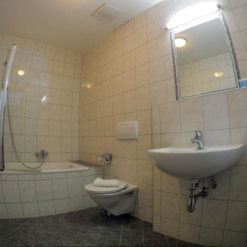 bathroom at chalet fauner, catered ski chalet in st anton