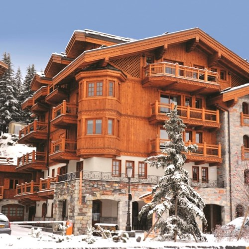 Exterior of Vieille Forge catered ski chalet in Courchevel 1850